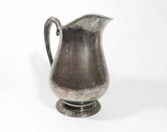 Silver Water pitcher, Vintage Water Pitcher, Vintage Serving Pitcher, Oneida Silver water pitcher, water jug