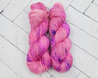 Barbie Girl- Hand-dyed Superwash Sock Yarn.