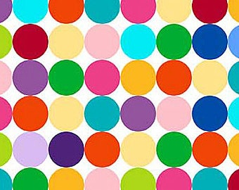 Northcott Fabrics - Color Dots on White - Colorworks Concepts - By Deborah Edwards - By The Yard