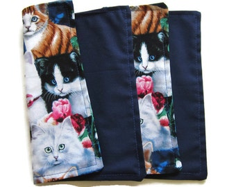 Kids Cloth Napkins, Reversible Cotton Napkins, Set of 2, Lunchbox Napkins, Eco Friendly, Washable, Double Sided, 2 Ply, Childrens Napkins