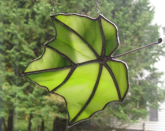 Stained Glass Maple Leaf # 15