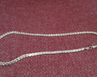 9.25 Silver, Rope Style  Necklace , Claw Style Clasp
