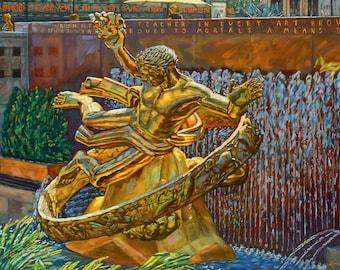 Rockefeller Gold (Fine Art Giclée Print)