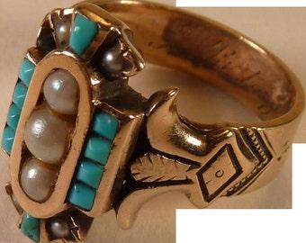 Rose Gold Victorian Ring Greek revival
