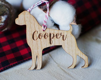 Custom Dog Christmas Ornaments | Choose Your Breed | Holiday Decor | Laser Cut | Laser Engraved | Christmas Gift | Dog Owner Gift