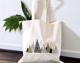 TOTE Bag - Cotton Tote Bag - Shopping bag - Mountain