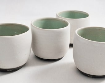 Coffee or sake cup in stoneware 1260 various glaze colors