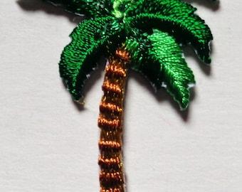 palm tree IRON ON PATCH 1 1/4 X 1 1/2 inch