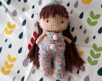 Cute Bunny Jumpsuit For Crochet Doll
