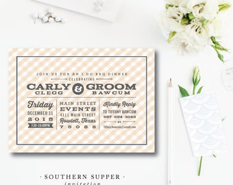Southern Supper Invitations