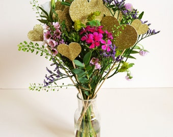 Glitter heart decorations