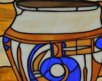 African Vase, Stain Glass Suncatcher, Vase Gift, Stain Glass Wall Hanging, Stain Glass Window, Vase Art, Stain Glass Art, Vase Wall Decor