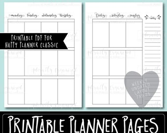 Happy Planner PRINTABLE Weekly Planner Refills / Inserts - PDF 7 x 9.25 | Monday Start | Create 365 | Me & My Big Ideas | mambi | Undated