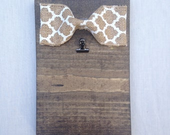 Wooden 4x6 picture frame or note holder