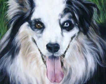 Custom Pet Portrait, Oil Painting, Pet Portrait, Portrait Commission, Dog Portrait, 8x8