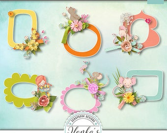 Hugs, Kisses And Springtime Wishes Clusters