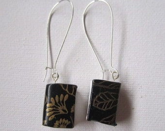 Book Earrings (Kidney Wires)