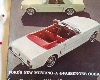 Road  & Track Magazine , May 1964, Mustang Drive Report