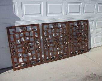 Chinese Antique Window Panels