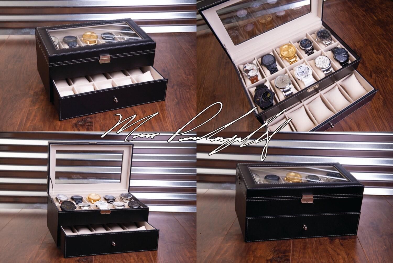 20 Slot Watch Box Case Sunglass Watch Storage Watches Organizer