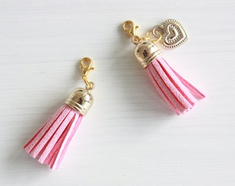 Pink and gold planner tassel