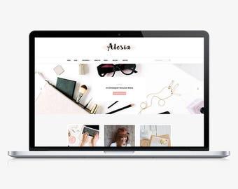 Alesia - Responsive WordPress theme - WordPress blog theme - Blog template