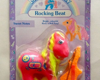 My Little Pony G1 MOC Rock 'N Beat Sweet Notes (UK Card) VHTF!