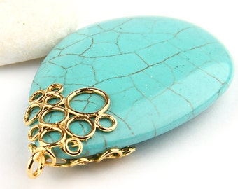 necklace silver pendant blue free natural turquoise sku p