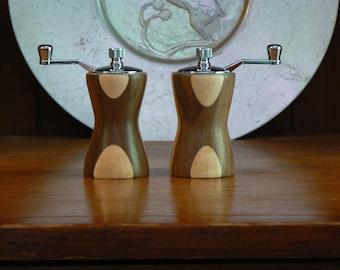 Handmade Wooden Salt and Pepper Grinders - Handmade Wooden Salt and Pepper Mills – Wood, Metal, Ceramic Grinder-SPM403