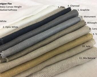 Belgian Linen Curtains - Optic White