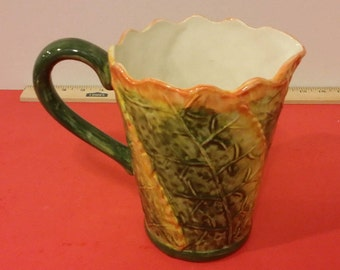 Maxcera Autumn Leaves Ceramic Pitcher