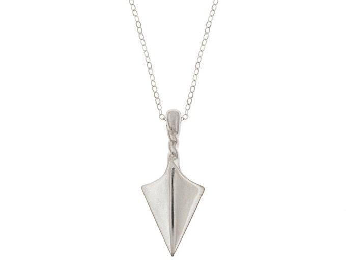 Arrow Point Talisman Necklace in Sterling Silver