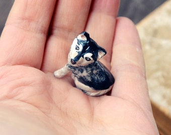 Personalized Miniature Dog Polymer Clay Pet Ornament Figurine Handmade Sculpture Figure for Dog Lovers Hand Painted Dog Cake Topper