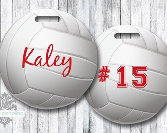 Volleyball Luggage Tag | Personalized Bag/Luggage Tag | Kids Backpack Tag | Sports Bag Tag | Travel Accessory | Sports Team Bag Tags