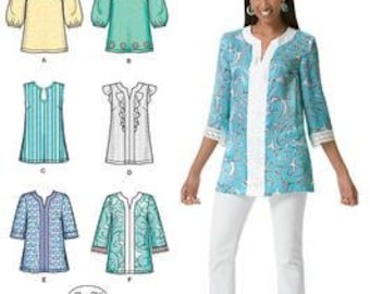 Simplicity Pattern 2448 Misses' Six Easy Tunics Patterns Sizes 14-22 New