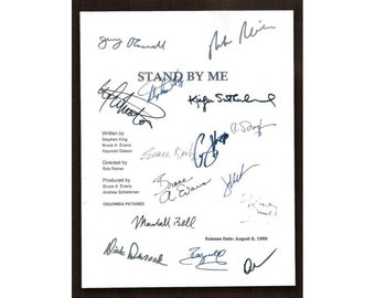Stand By Me Movie Script Screenplay Autographed Stephen King, Richard Dreyfuss, Rob Reiner, Wil Wheaton, River Phoenix