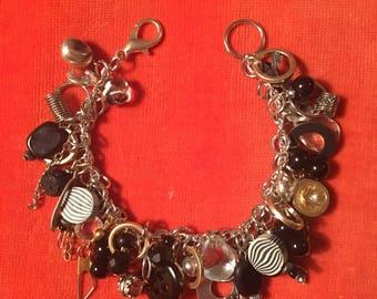 Black & White FOUND Charm Bracelet
