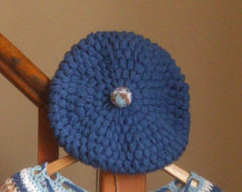 A beautiful Pom Pom stitched Beret Good for Birthdays, Anniversary's