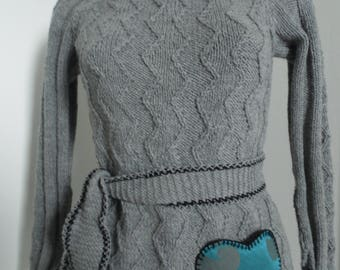 Slimming sweater wool and alpaca, worked on order size and choice of colors