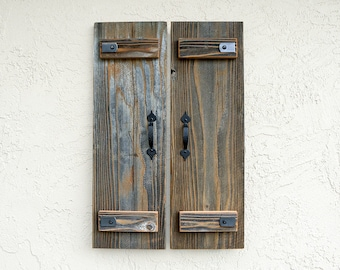 Rustic Shutters. Set of 2. Wooden Door Shutters. Rustic Wall Decor. Rustic Barn Doors. Farmhouse Decor. Indoor Shutters. Outdoor Shutters. M