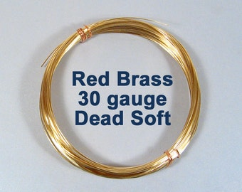 30ga DS Red Brass Wire - Dead Soft - Choose Your Length