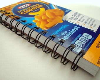 Upcycled Notebook, Macaroni and Cheese