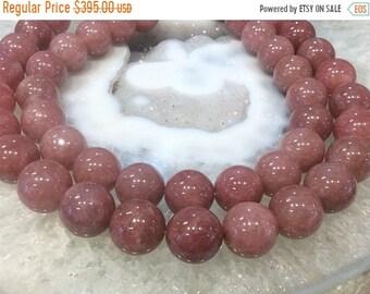 50% Mega Sale 17mm Dusty Rose Pink Morango Quartz