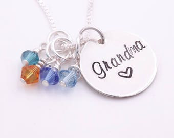 Grandma necklace - Mother in law gift - From grandkids - Grandmother necklace - Gift idea for nana - Grandkids necklace - Grandmother gifts