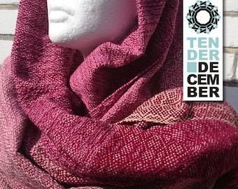 Blanket shawl, pink and burgundy, handmade weaving, acrylic shawl, pink scarf, weaving shawl women, handmade shawl, big scarfs,  woven shawl