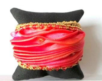 Silk and Crystal slave bracelet