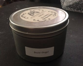 Snow Angel 16 ounce Large Tin Soy Candle