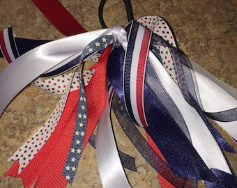 Patriotic America Hair Ribbons