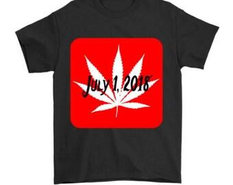 Mens Cannabis Legalization Tshirt Canada