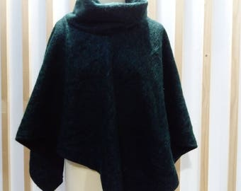poncho, jacket, cape, poncho green pine, fir green cape